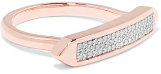 Monica Vinader Baja Skinny Rose Gold Vermeil Diamond Ring - K