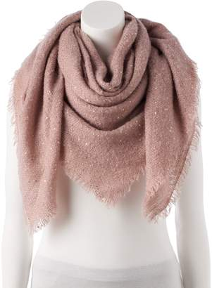 Lauren Conrad Women's Shine Boucle Square Blanket Scarf