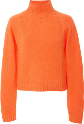 The Elder Statesman Highland Cropped Cashmere Turtleneck Sweater