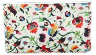 Christian Louboutin Studded Floral Print Clutch