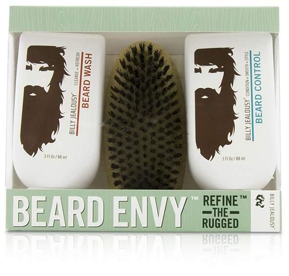 Billy Jealousy Beard Envy Kit: Beard Wash 88ml + Beard Control 88ml + brush 1pcs