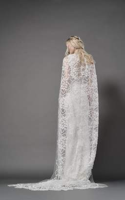 Ophelia Elizabeth Fillmore Butterfly Tulle Cathedral Length Cape