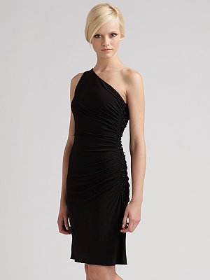 Laundry by Shelli Segal Side Beaded Cocktail Dress