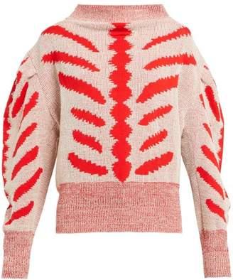 Vivienne Westwood Tiger Hemp Blend Sweater - Womens - Beige Multi