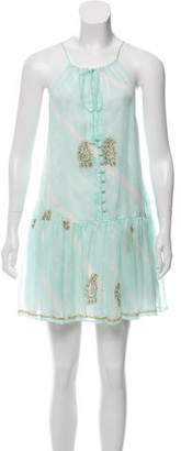 Juliet Dunn Embellished Silk Dress