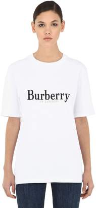 Burberry Oversized Logo Cotton Jersey T-Shirt