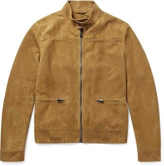 Bottega Veneta Suede Blouson Jacket
