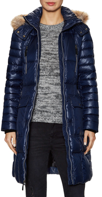 Adrinanne Quilted Fur Trim Coat $330 thestylecure.com