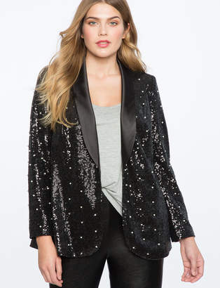 Sequin Pearl Embellished Blazer