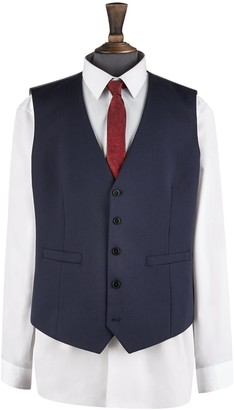 Mens Big & Tall Navy Essential Stretch Tailored Fit Waistcoat