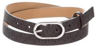 Michael Kors Skinny Monogram Logo Belt