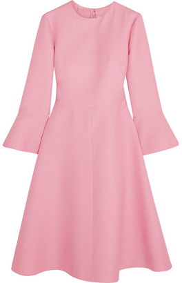 Valentino - Wool And Silk-blend Dress - Baby pink $3,290 thestylecure.com