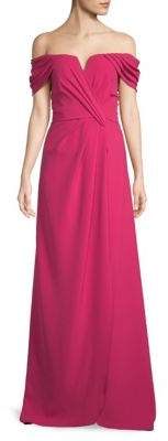 Off The Shoulder Floor-Length Gown