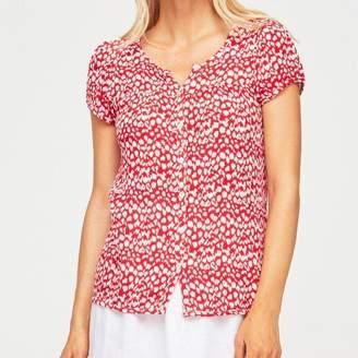 Aspiga Lisbon Short Sleeved Blouse Leopard Red