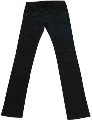 Evisu Black Cotton - elasthane Jeans for Women