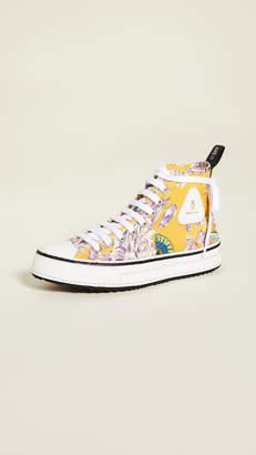 R 13 High Top Sneakers