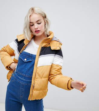 New Look padded jacket in colourblock