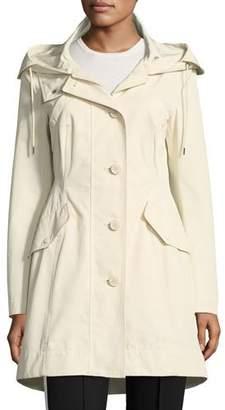 Moncler Audrey Long Utility Coat w/ Hood