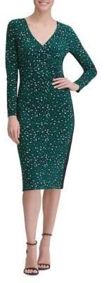 Tommy Hilfiger Leopard Spotting Jersey Sheath Dress