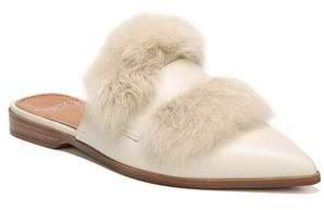 Franco Sarto Palmer II Genuine Rabbit Fur Slide