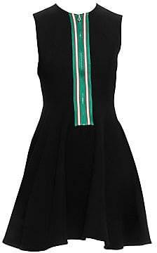 Sandro Women's Ines Zip-Front Fit-&-Flare Dress