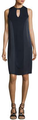 Rag & Bone Hart Two-Tone Sleeveless Shift Dress, Navy