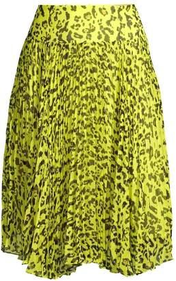 Nanette Lepore Leopard Print Pleated Skirt