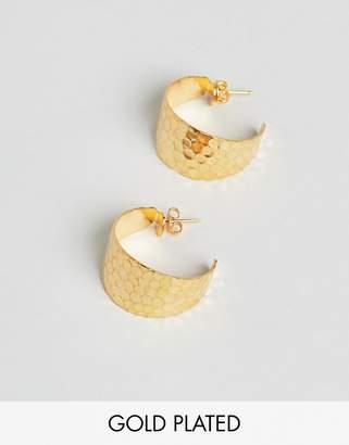Gogo Philip hammered hoop earrings
