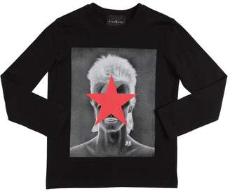 John Richmond David Bowie Cotton Jersey T-Shirt