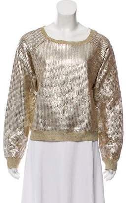 Trussardi Metallic Long Sleeve Top