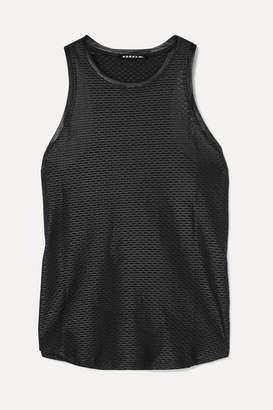 Koral Aerate Satin-trimmed Stretch-mesh Tank - Black