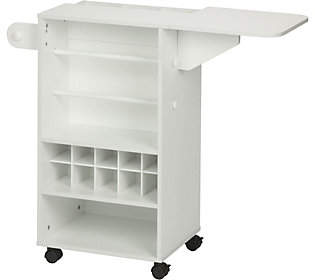 Honey-Can-Do White Rolling Craft Storage Cart