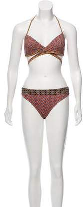 Saint Tropez Kiwi Saint-Tropez Printed Two-Piece Swimsuit