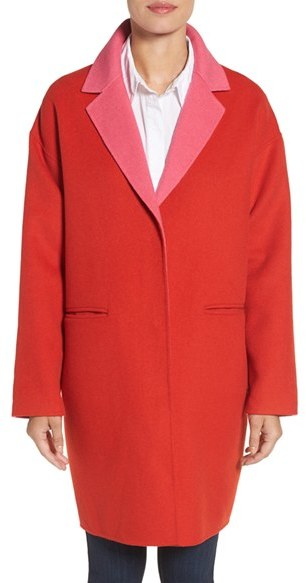 Kate Spade Women's Kate Spade New York Double Face Wool Blend Coat