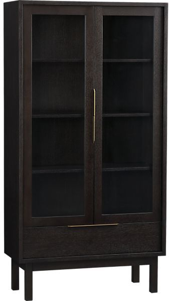 Crate & Barrel Pearse Tall Cabinet.