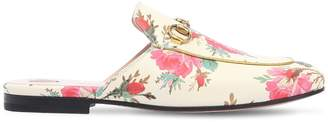 Gucci 10mm Princetown Floral Leather Mules