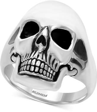 Effy Men Skull Ring in Sterling Silver and Black Rhodium-Plate