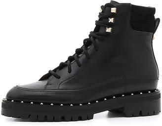 Valentino Soul Rockstud Leather Combat Boots
