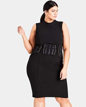 City Chic Corset Body-Con Dress