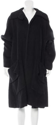 Yohji Yamamoto Relaxed Long Line Coat $295 thestylecure.com