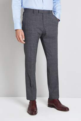 Moss Bros Performance Tailored Fit Grey Check Trouser