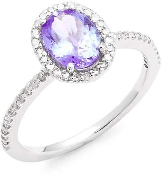 Effy Women's Diamond, Tanzanite and 14K White Gold Ring