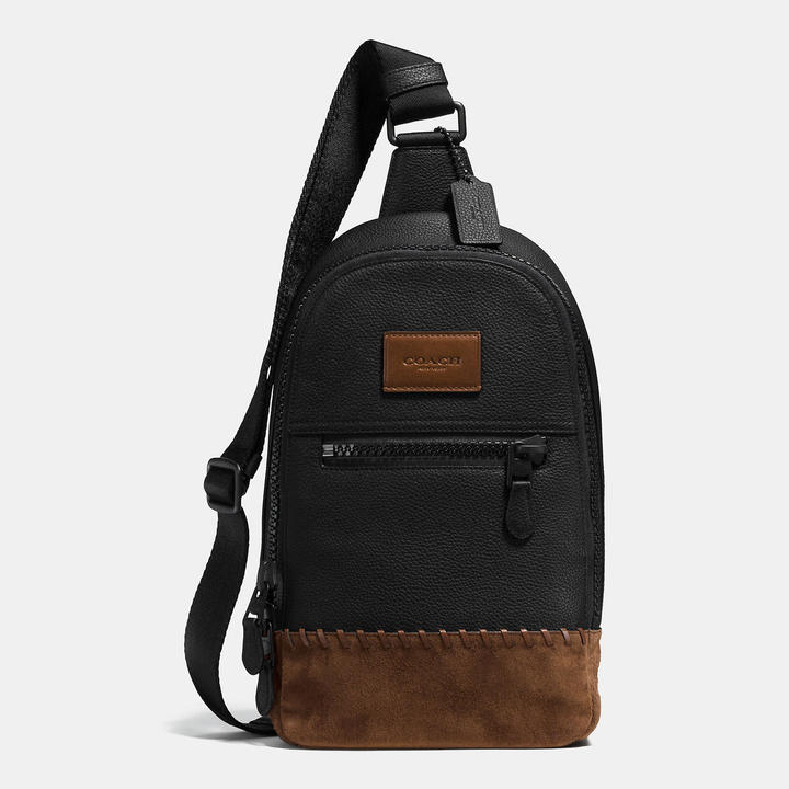 Coach  COACH Coach Rip And Repair Campus Pack In Polished Pebble Leather