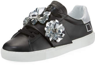 D.A.T.E Newman Flower-Strap Sneakers