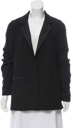 Zac Posen Embellished Satin-Trimmed Blazer