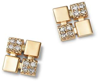 Bloomingdale's Diamond Square Stud Earrings in 14K Yellow Gold, 0.15 ct. t.w. - 100% Exclusive
