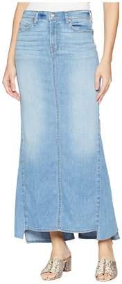 7 For All Mankind Long Maxi Skirt w/ Kicks in Bright Blue Jay 2 Women's Skirt