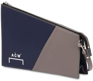 A-Cold-Wall* Acw Printed Two Tone Leather Clutch