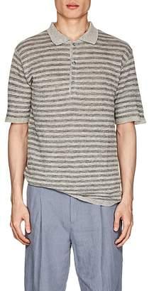 Barena Venezia Men's Striped Linen Polo Shirt