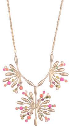 Trina Turk Retro Botanics Crystal Floral Burst Statement Necklace